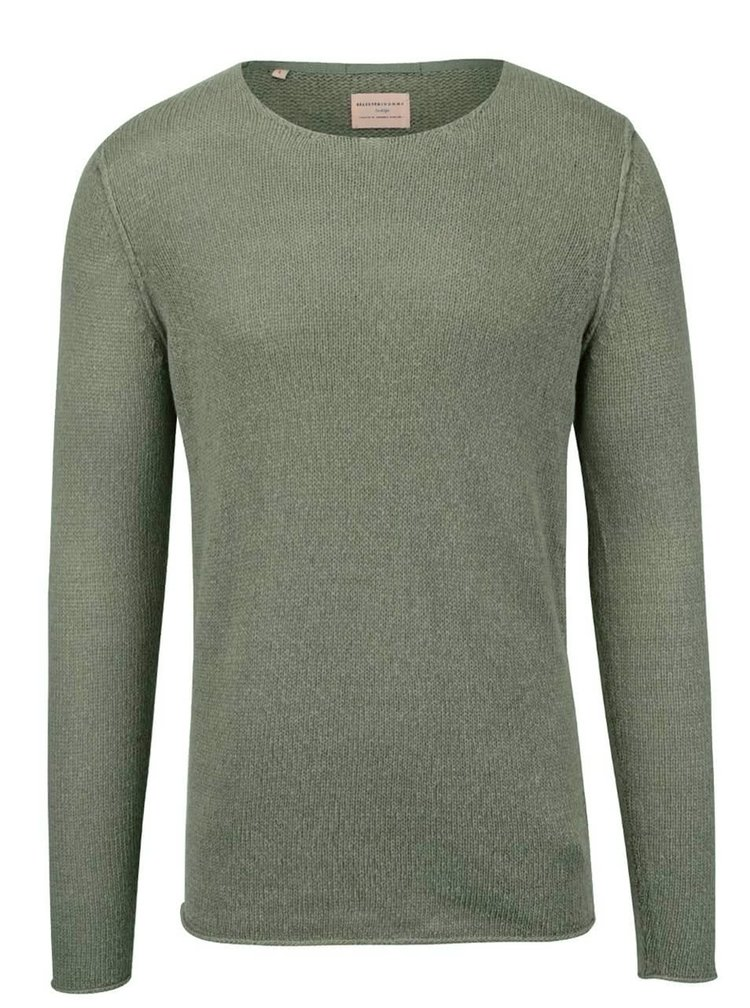 Zelenošedý lehký svetr Selected Homme Penn