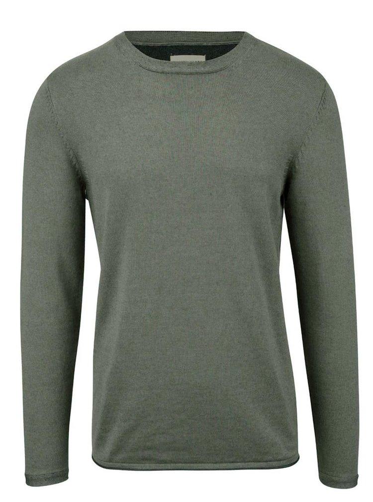 Zelenosivý sveter s okrúhlym výstrihom Selected Homme Abel