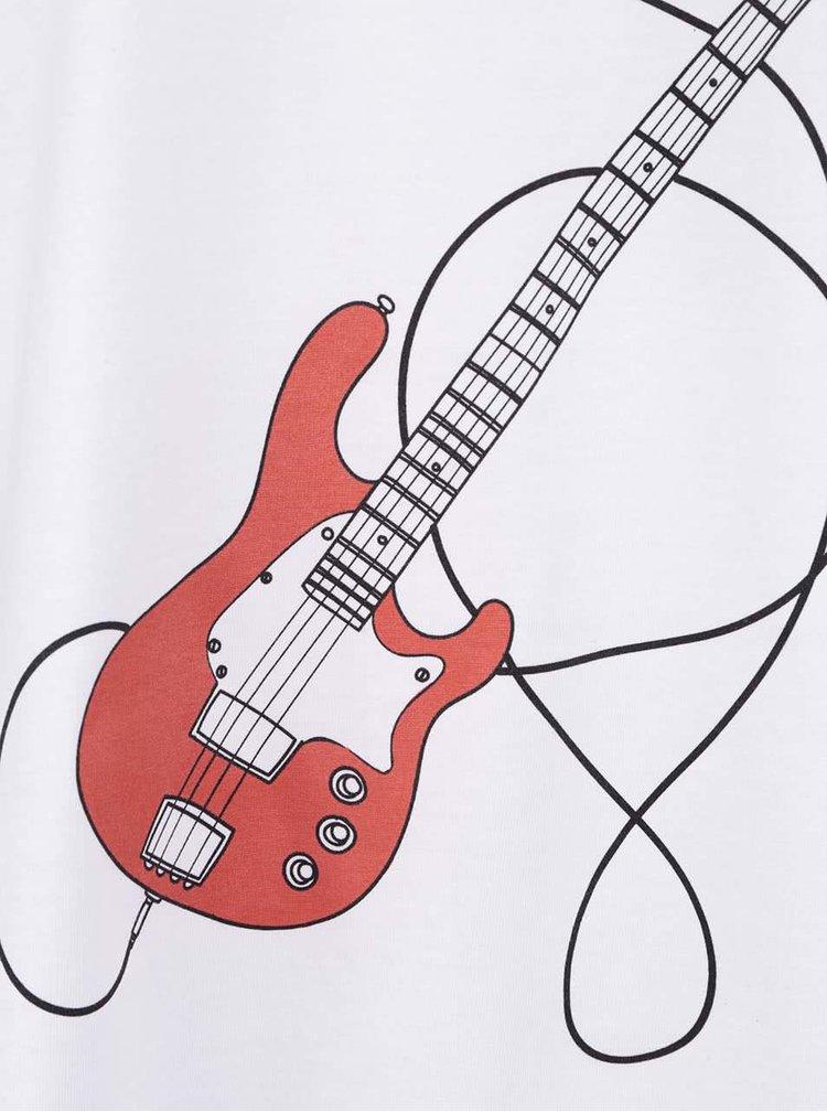 Biele pánske tričko s potlačou ZOOT Originál Kytara