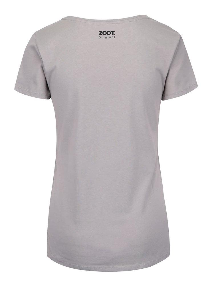 Svetlosivé dámske tričko ZOOT Originál Víkend