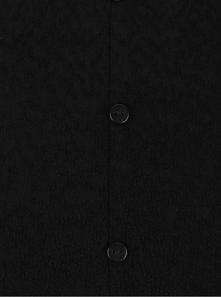 Černá halenka s véčkovým výstřihem VERO MODA Hester