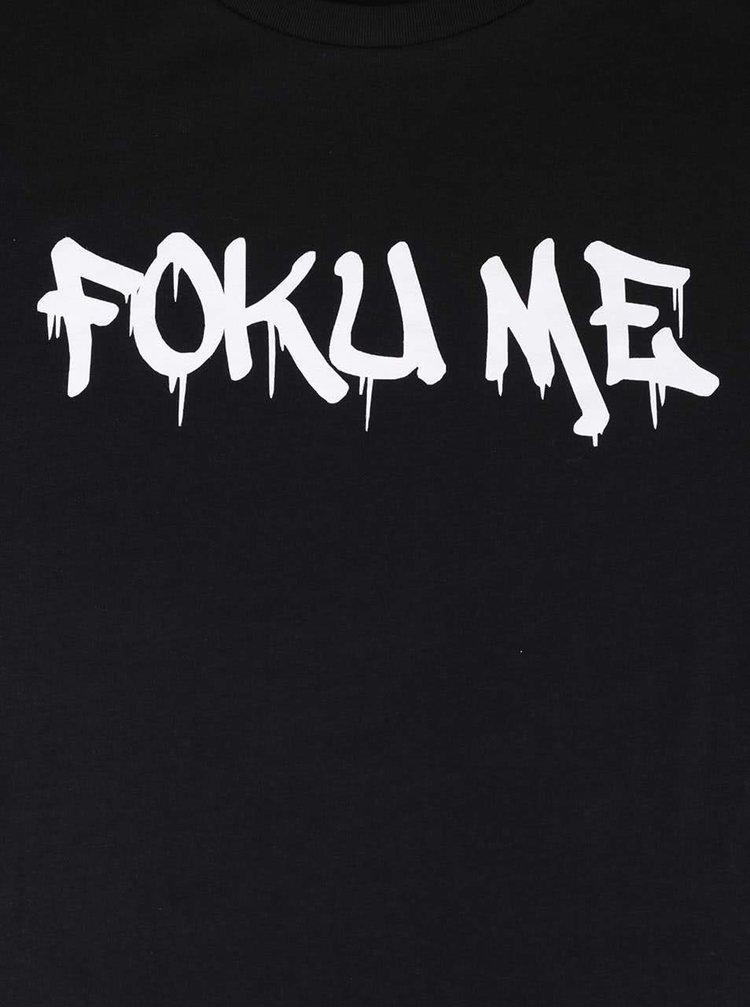 Čierne pánske tričko s potlačou ZOOT Originál Foku Me