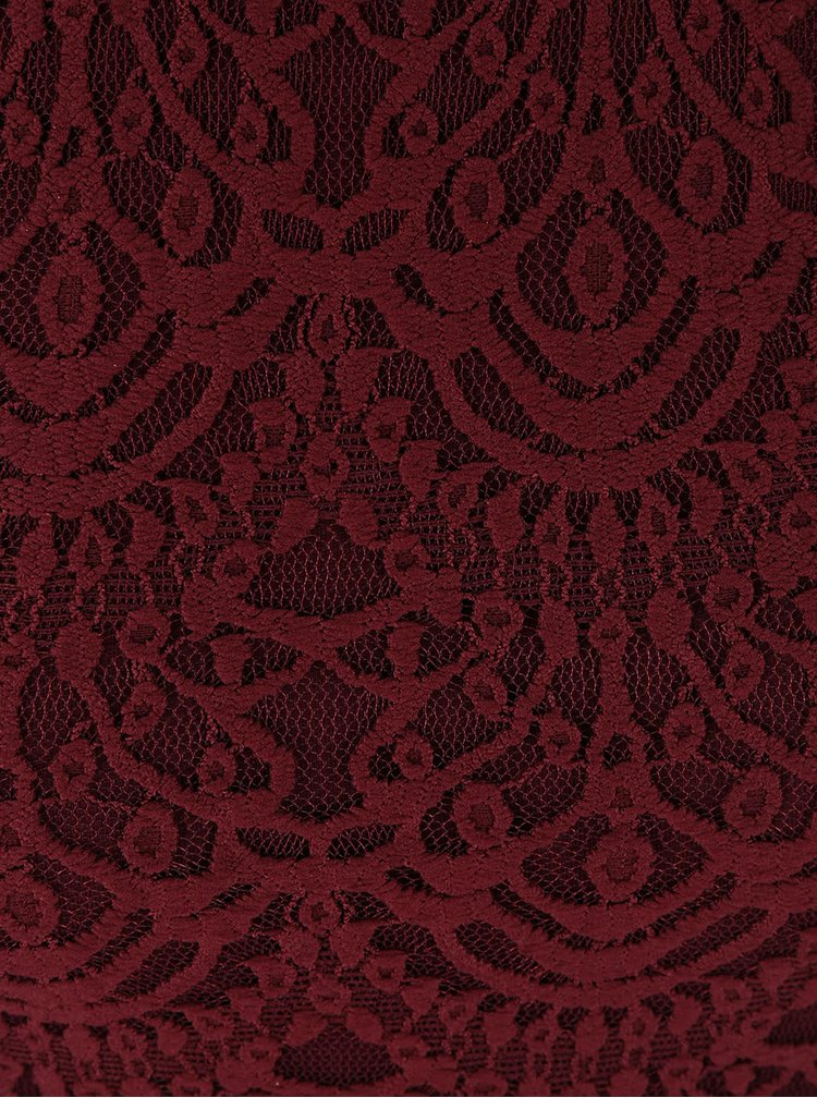 Rochie roșu-burgundiu Tally Weijl din dantelă