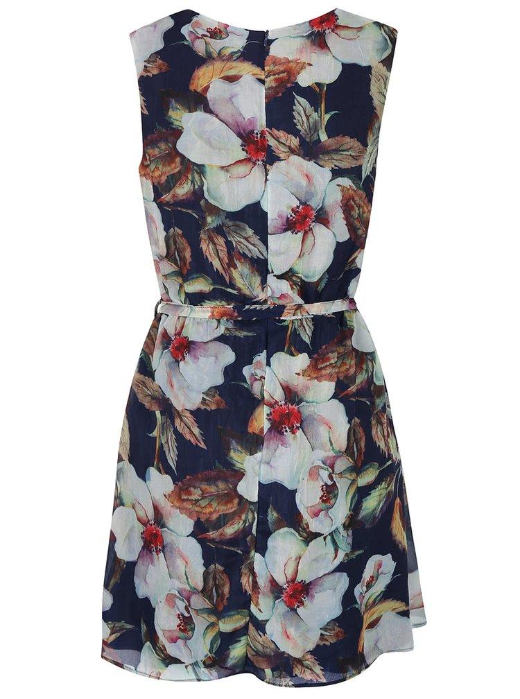 Tmavě modré šaty s květy Apricot