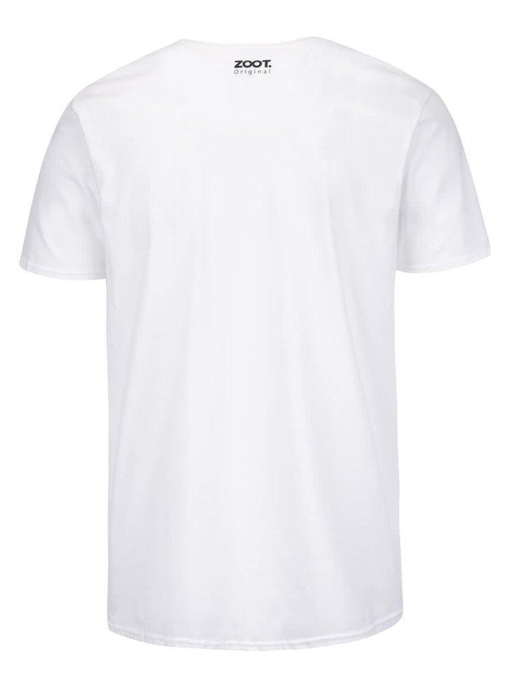 Bílé pánské triko s potiskem ZOOT Originál Karaoke Master