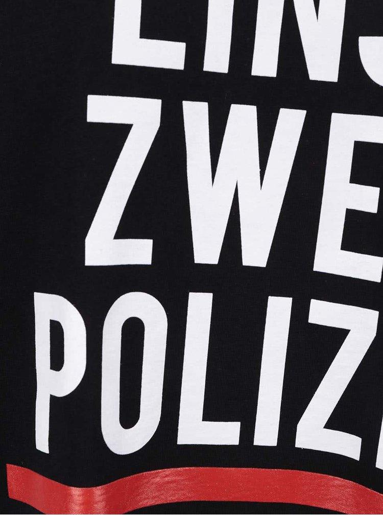 Čierne pánske tričko ZOOT Originál Polizei