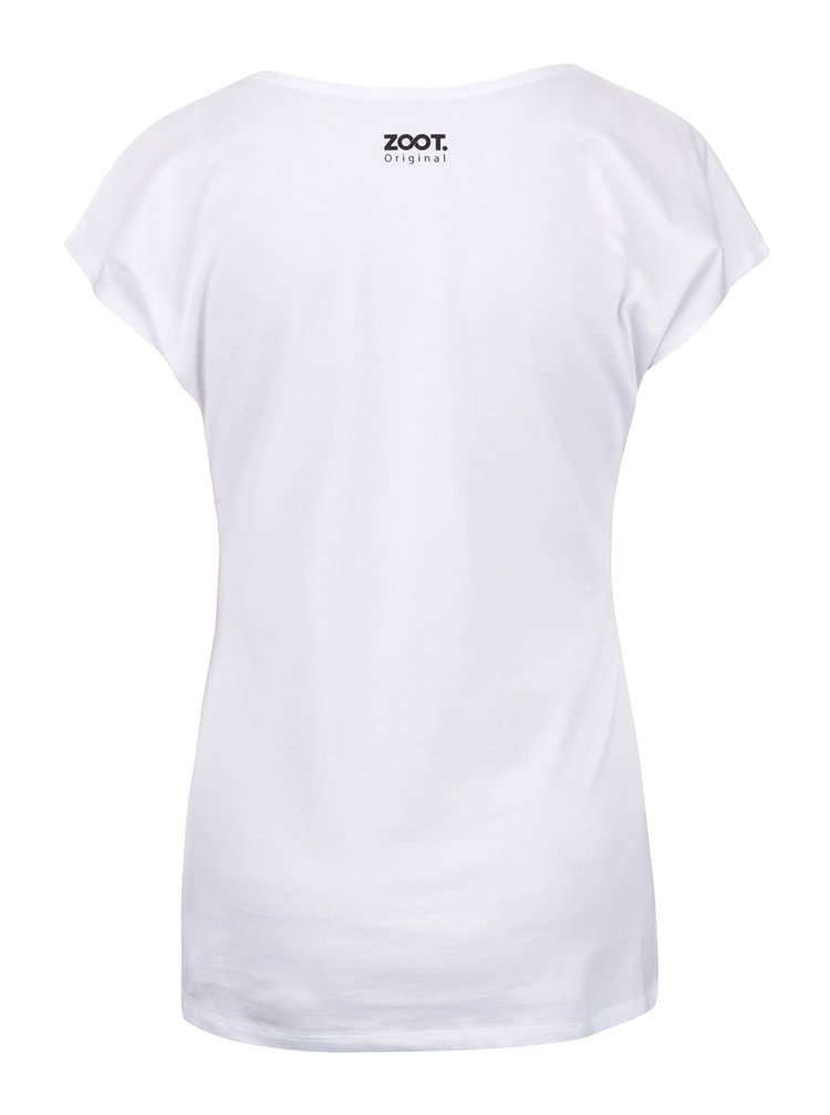 Tricou alb cu print ZOOT Originál We Are Your Friends