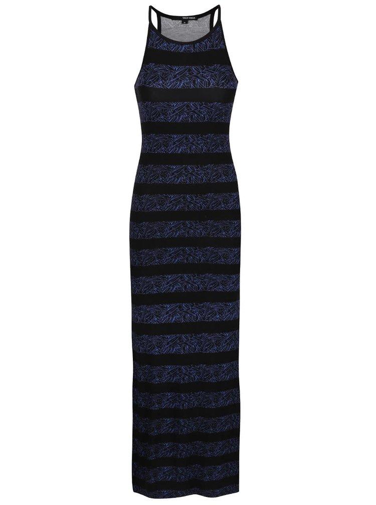 Modro-čierne maxišaty s potlačou TALLY WEiJL