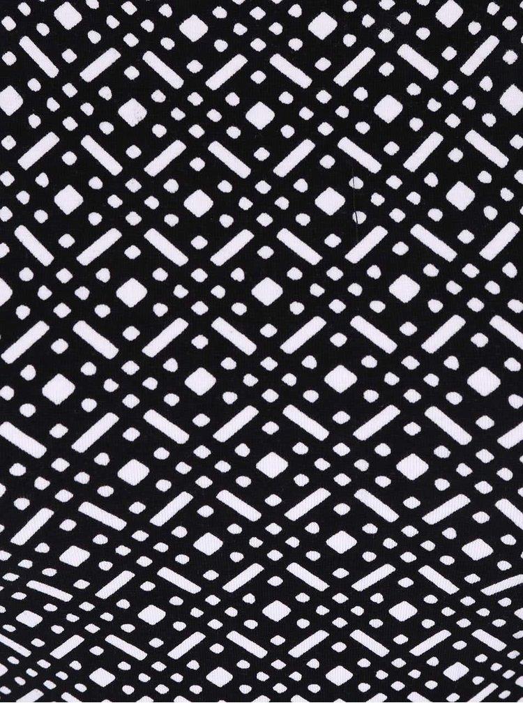 Čierno-biele vzorované šaty TALLY WEiJL