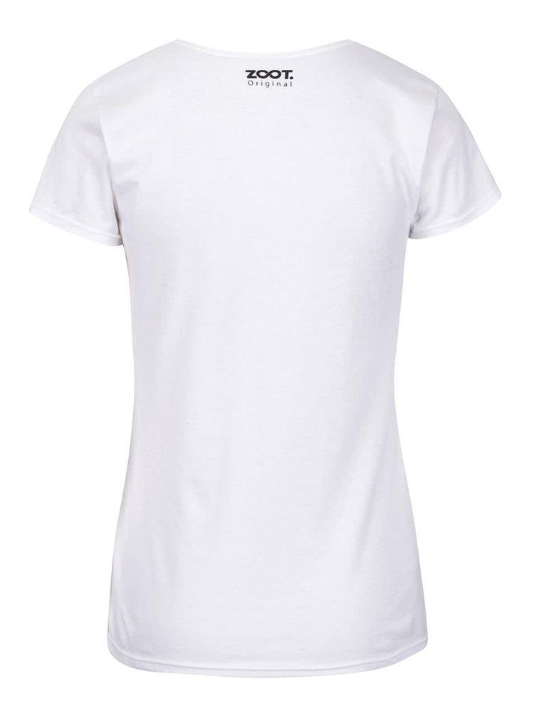 Tricou alb din bumbac organic ZOOT Originál Club 27