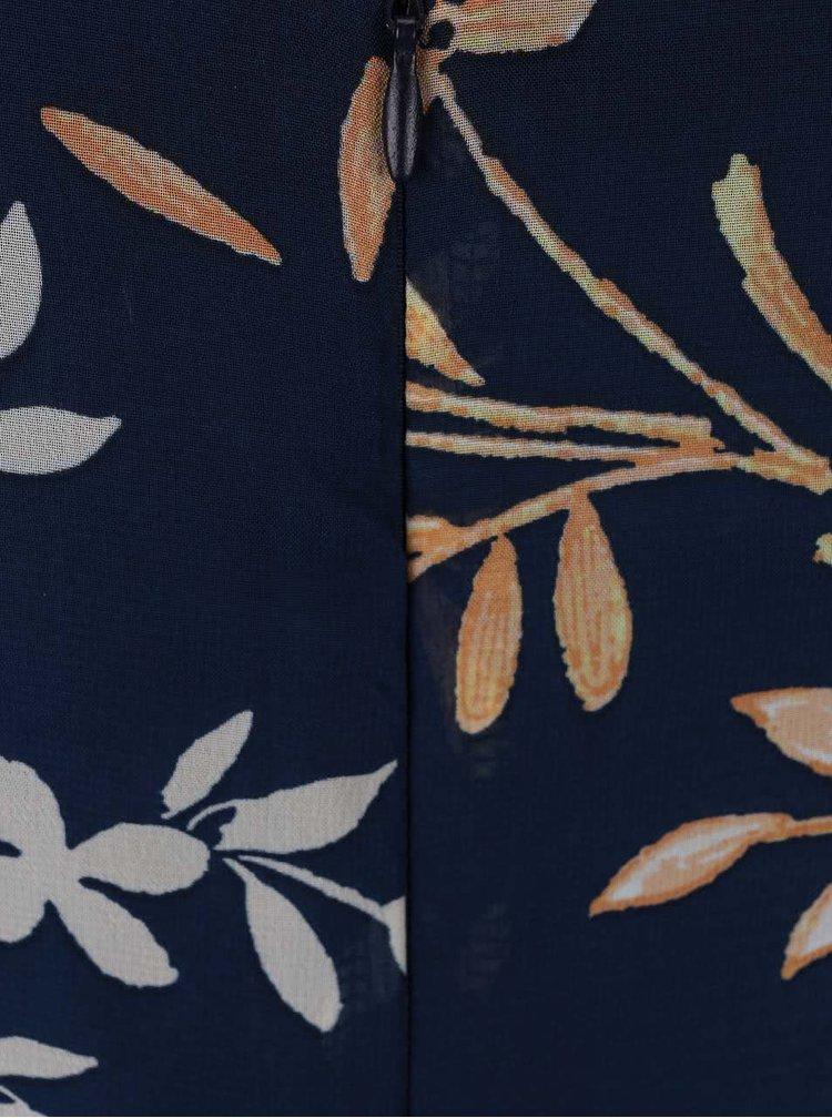 Tmavě modré šaty s tenkým páskem Apricot