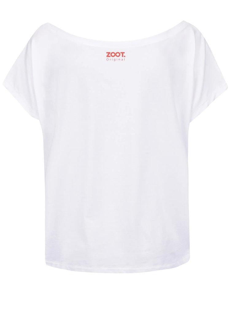 Bílé dámské volnější tričko ZOOT Originál Bowie