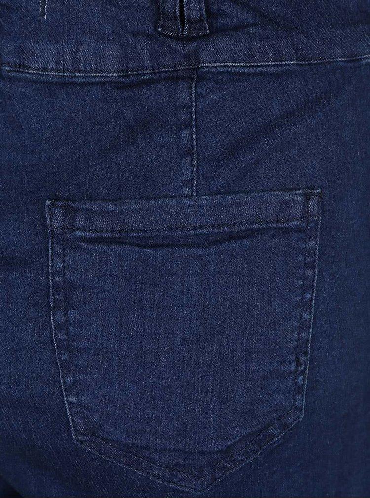 Modré rifľové kraťasy s trakmi TALLY WEiJL