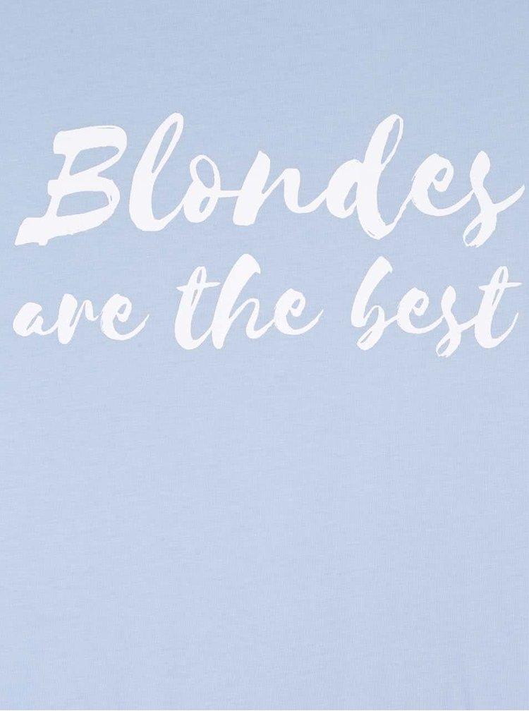 Tricou albastru deschis din bumbac pentru femei -  ZOOT Original Blondes Are The Best