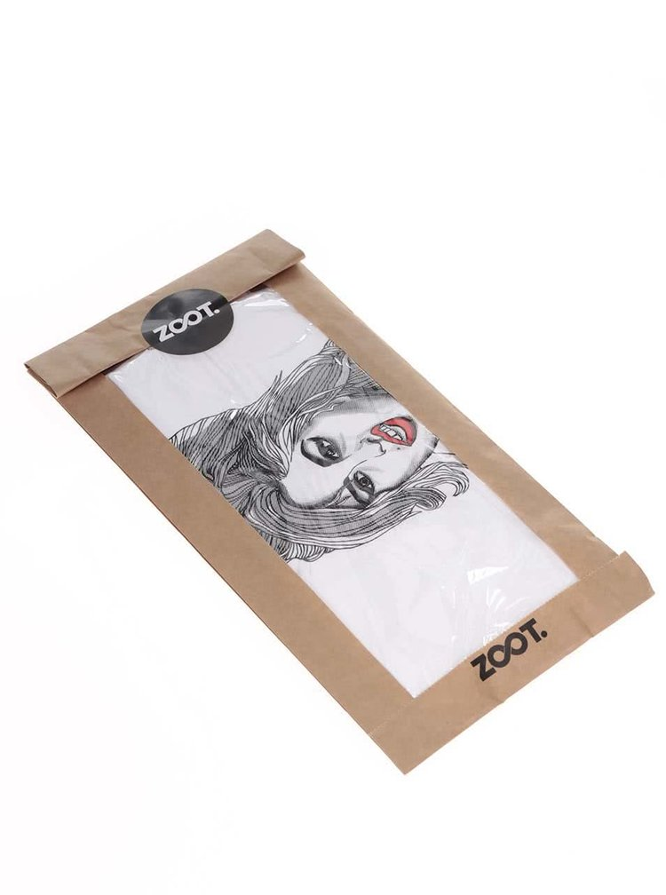 Tricou alb din bumbac organic ZOOT Originál Amy