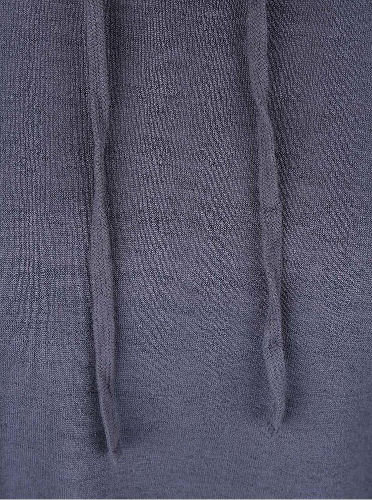Šedmodré tričko s límcem ONLY Brenda