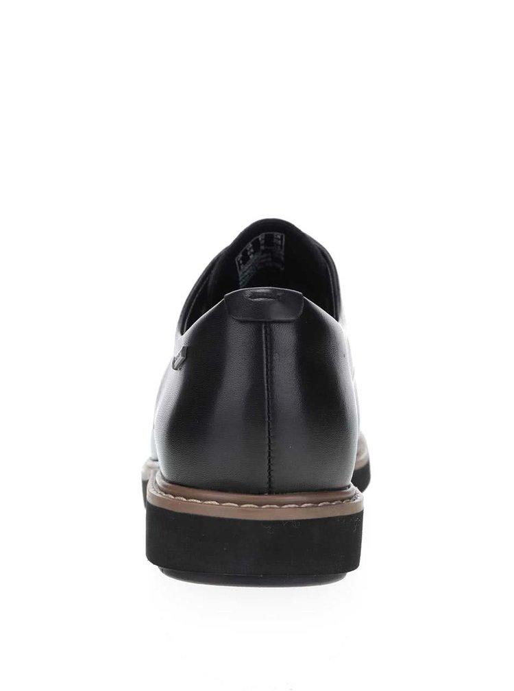 Čierne dámske kožené poltopánky Clarks Glick Darby GTX