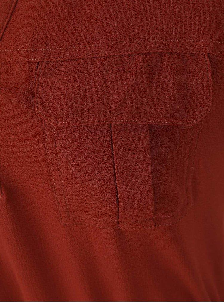 Cihlové šaty se stažením v pase ONLY Vertigo