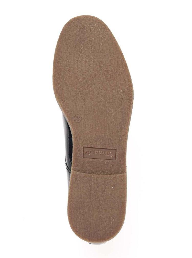 Pantofi albastru închis Tamaris lăcuiți