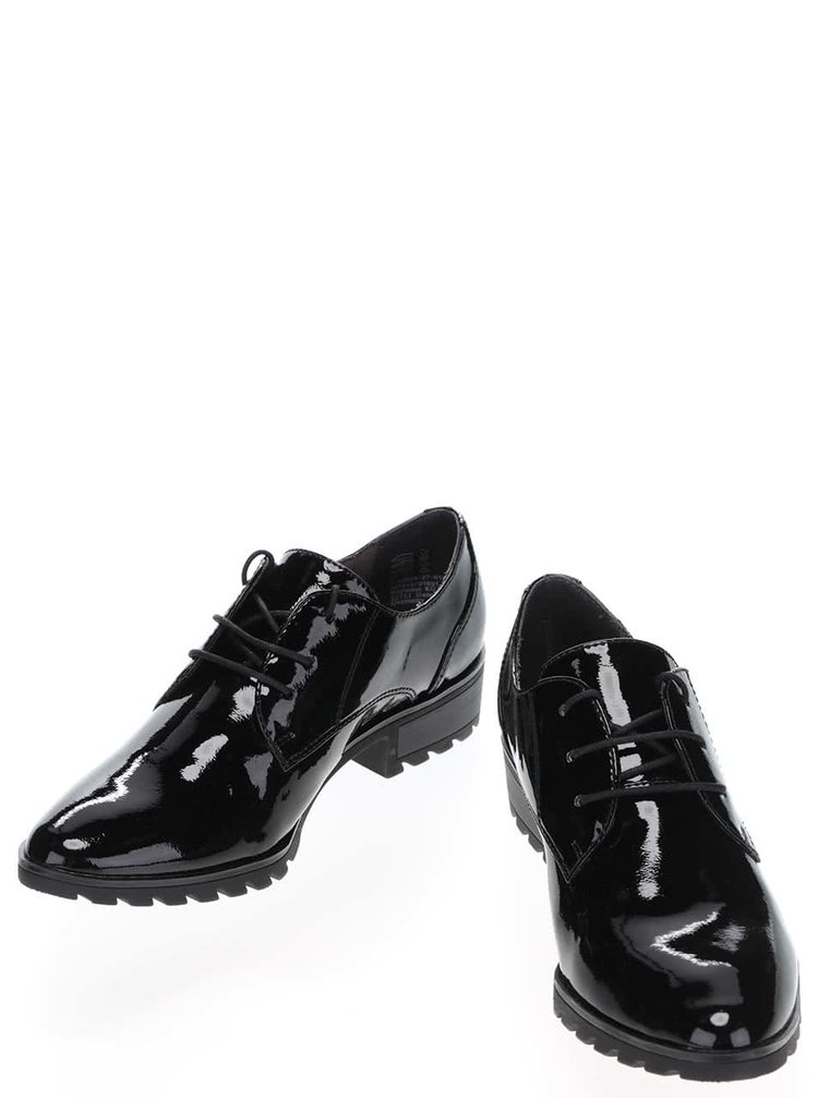 Pantofi negri Tamaris lacuiti