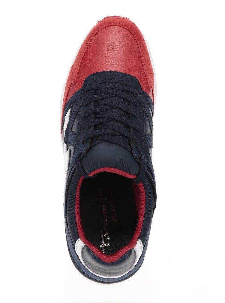 Pantofi sport albastru cu rosu Tamaris