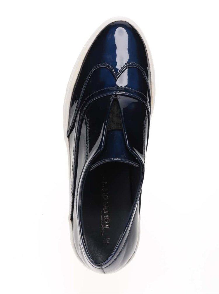 Pantofi loafer albaștri cu platformă Tamaris