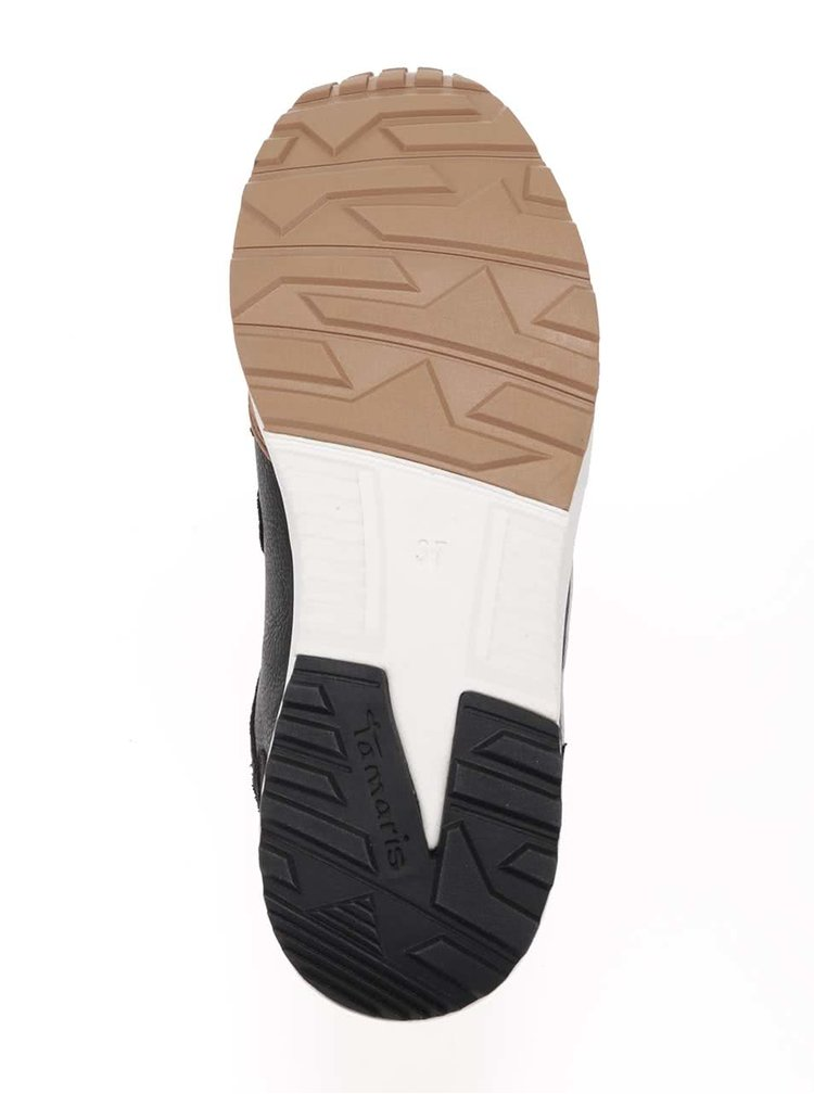 Pantofi sport maro cu negru Tamaris