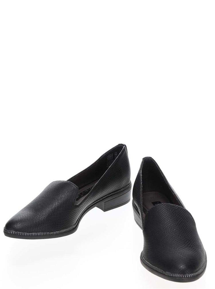 Pantofi loafer negri Tamaris