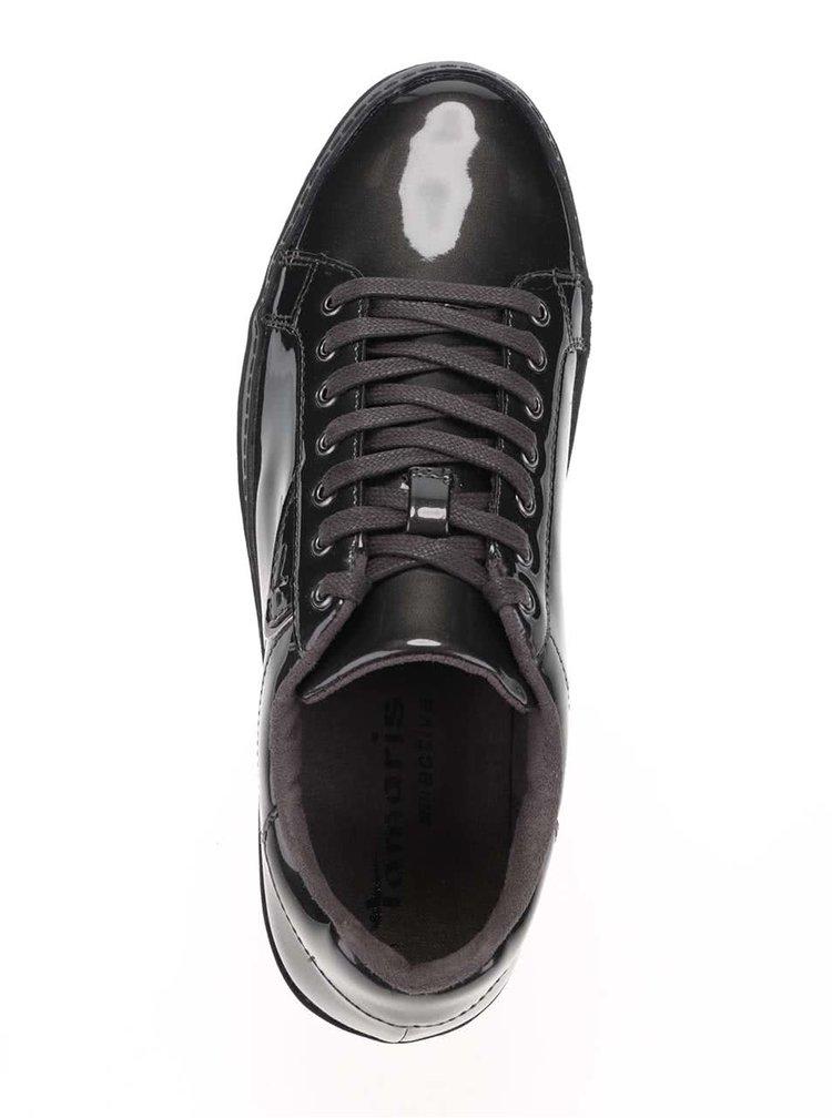 Pantofi sport gri Tamaris lacuiti