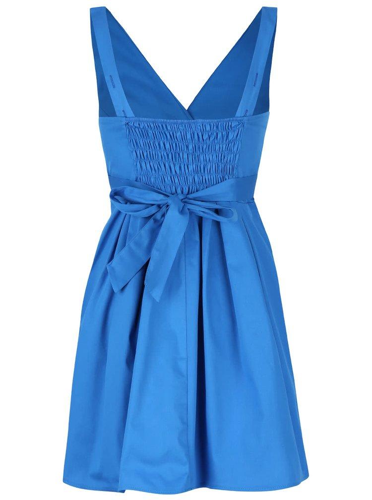 Rochie albastra cu funda Apricot