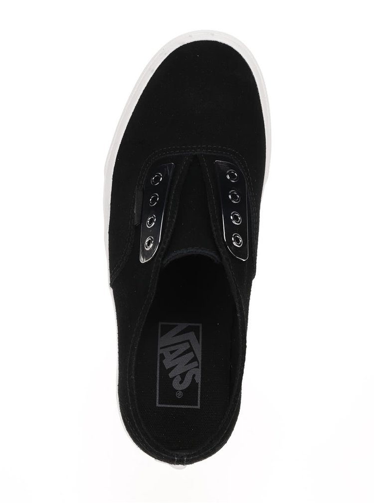 Teniși slip-on unisex negri VANS Authentic