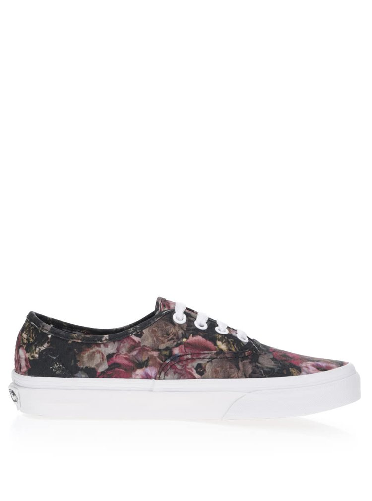 Teniși unisex negri cu model Vans Authentic