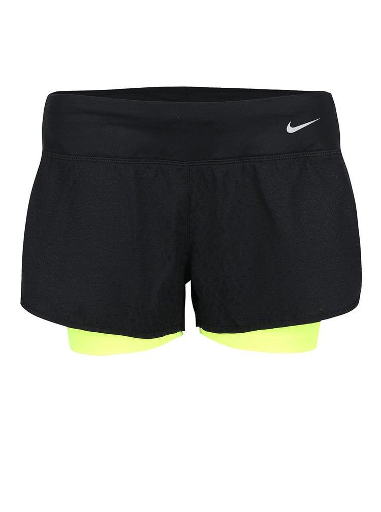 """Černé dámské kraťasy Nike 3"""" Rival Jacquard"""