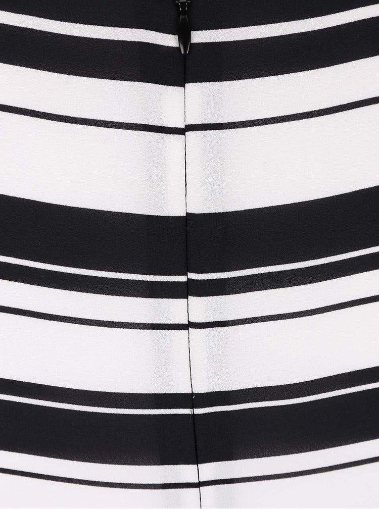 Černo-bílé pruhované šaty s plisovanou sukní Dorothy Perkins