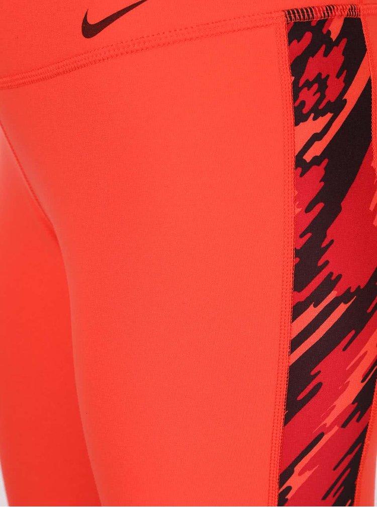 Červené dámske 3/4 legíny Nike Power Legend