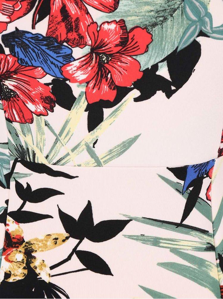 Krémové pouzdrové šaty s květovaným vzorem Dorothy Perkins