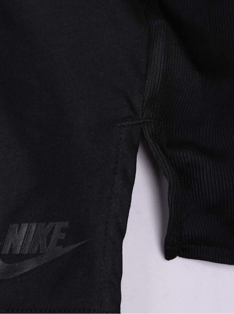 Top negru Nike Tank Bnd cu pliuri pe spate