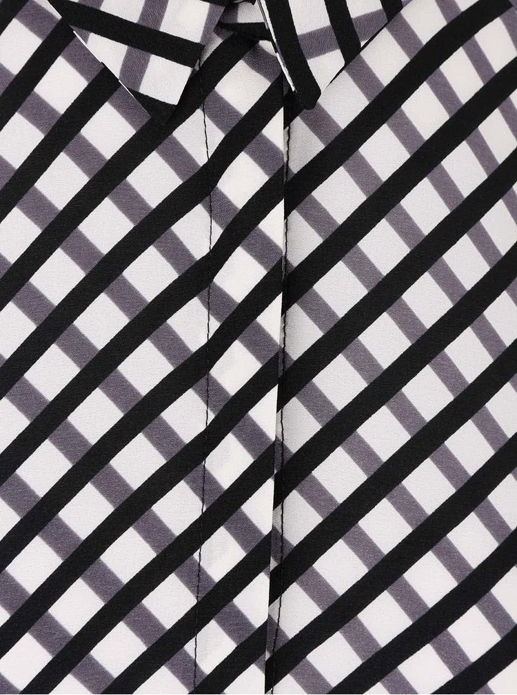 Černo-krémová košile s páskem Dorothy Perkins