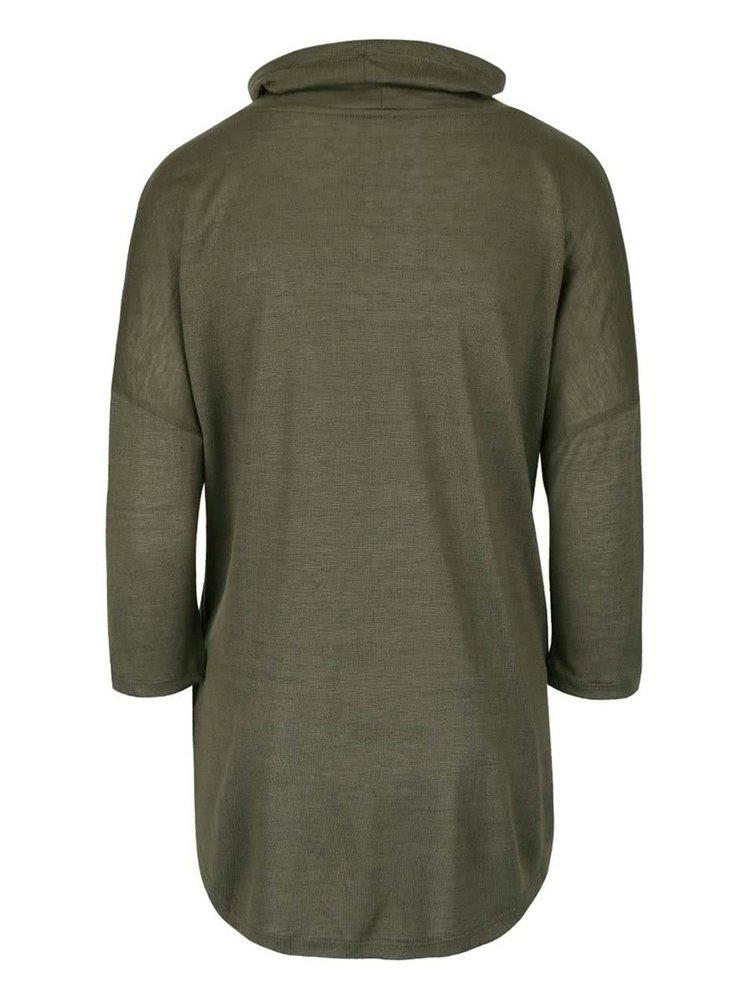 Khaki tričko s límcem ONLY Brenda