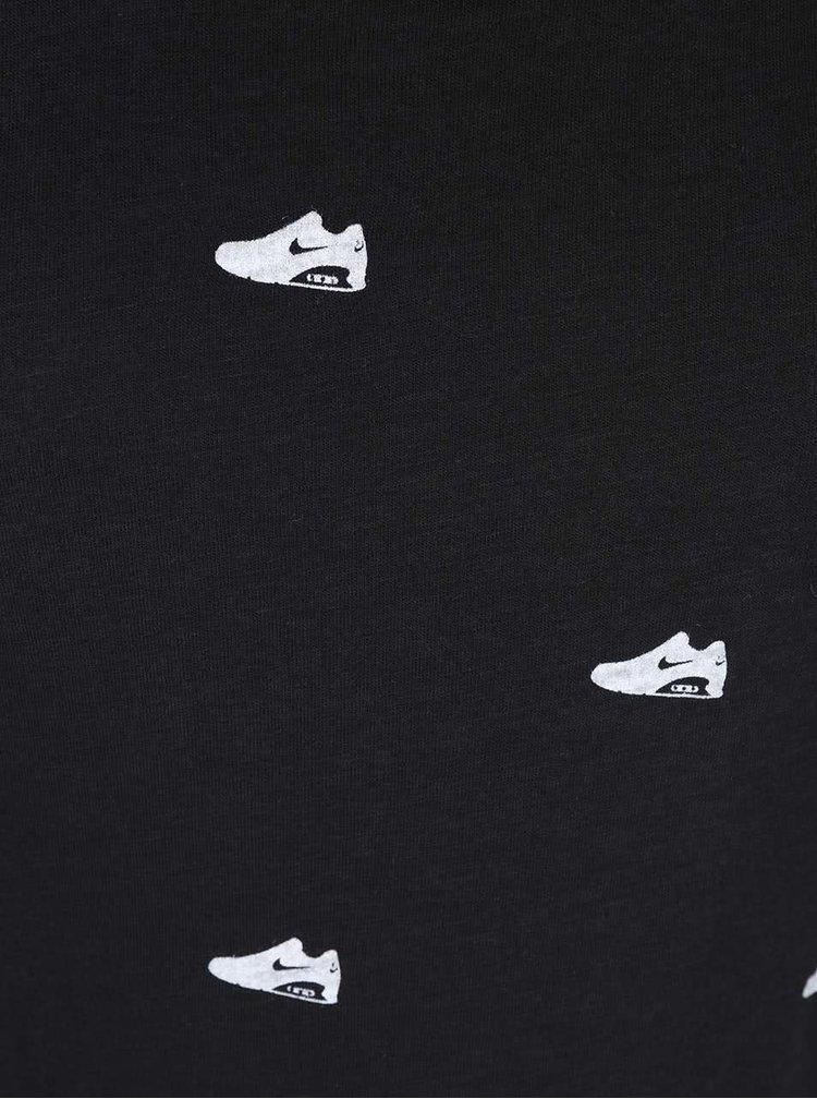 Top negru cu imprimeu Nike Tank-Air Belt Print Racer