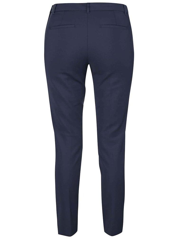 Tmavě modré formální slim fit kalhoty VERO MODA Ida