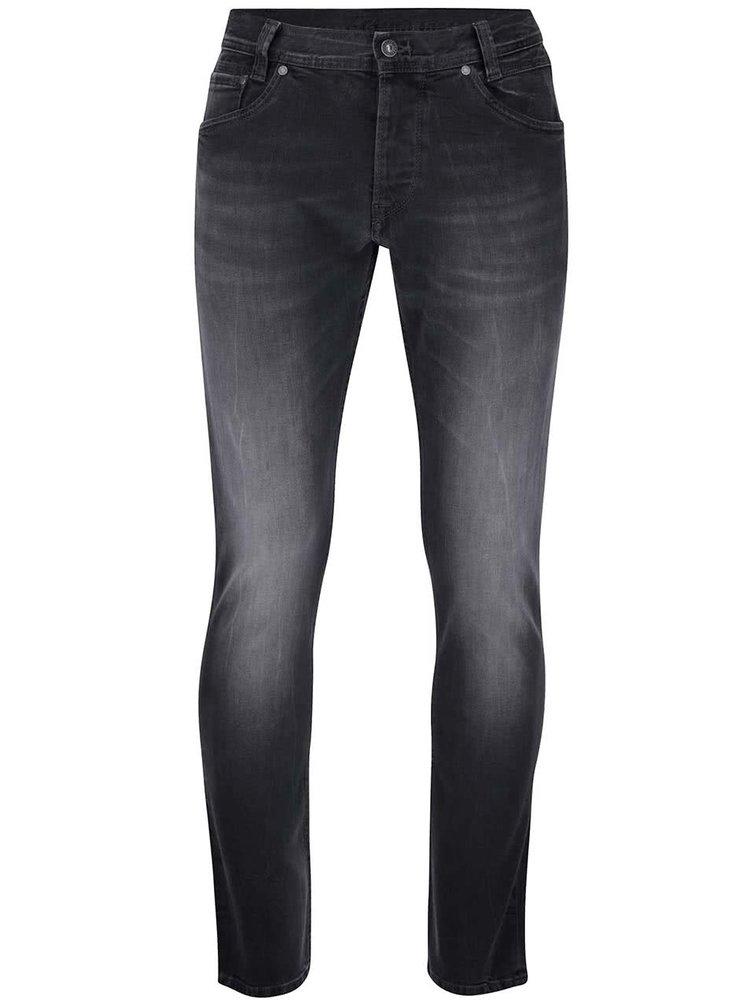 Tmavě šedé pánské slim džíny Pepe Jeans Spike