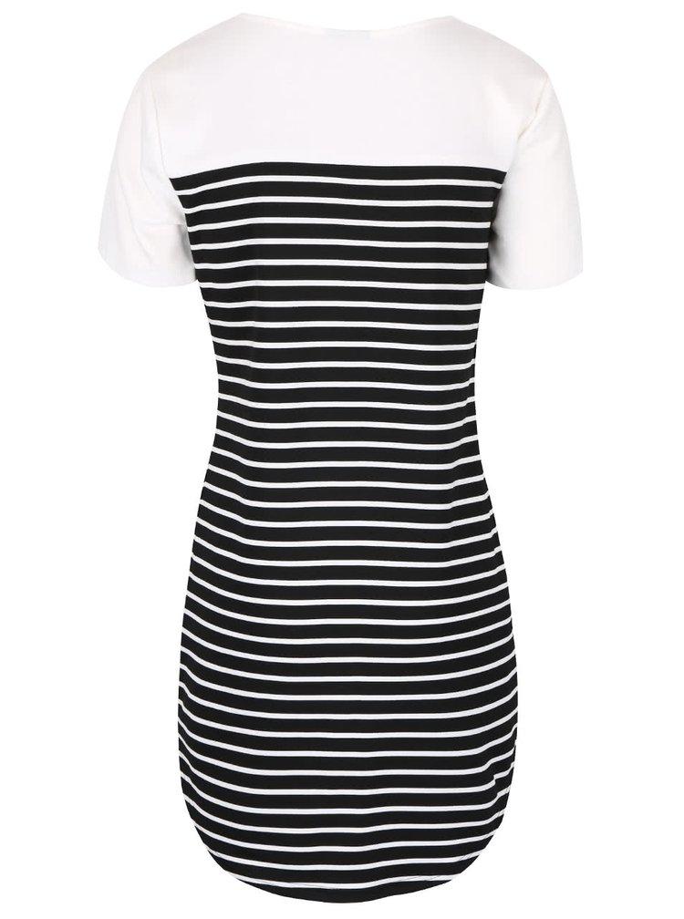 Krémové pruhované šaty VILA Tinny