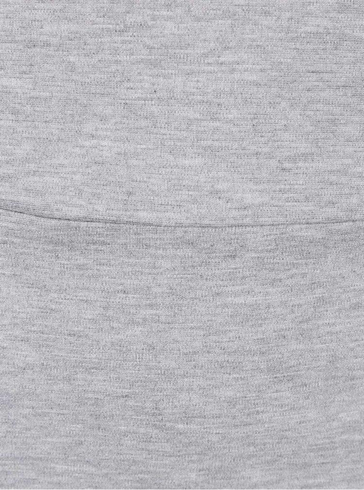 Světle šedé šaty s průstřihem na zádech VERO MODA Kelly