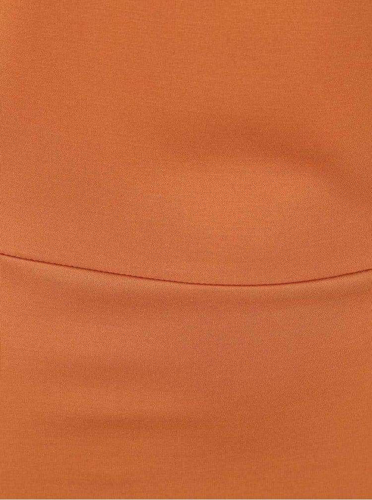 Rochie maro deschis cu mâneci lungi VERO MODA Kelly