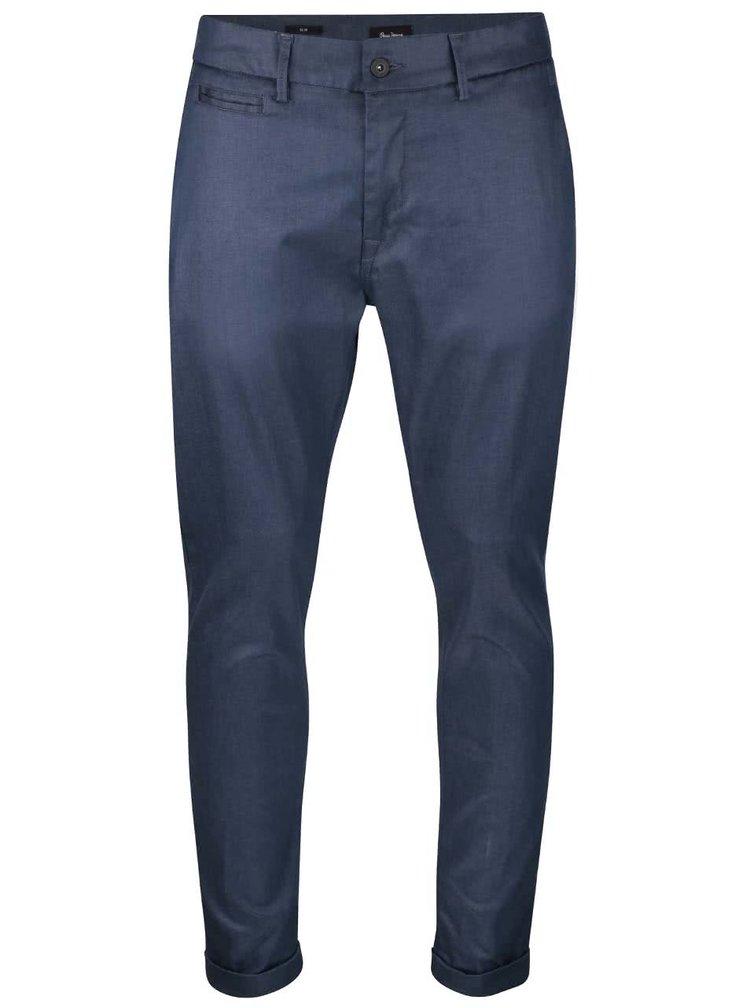 Tmavomodré pánske slim chino nohavice Pepe Jeans Colin