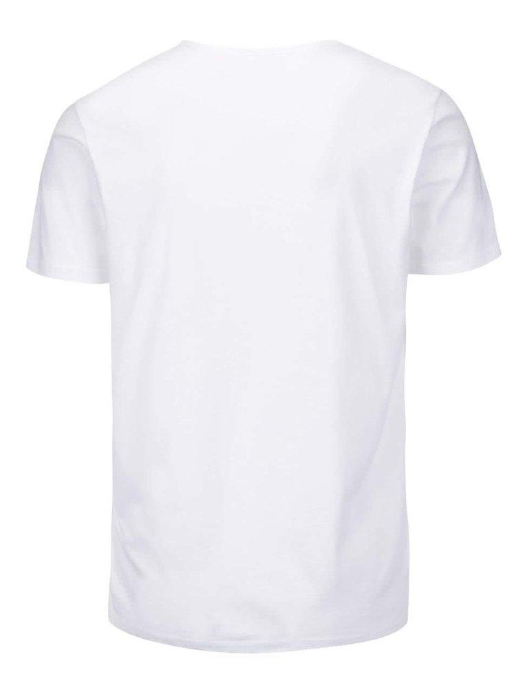 Bílé pánské triko s potiskem Pepe Jeans Richond