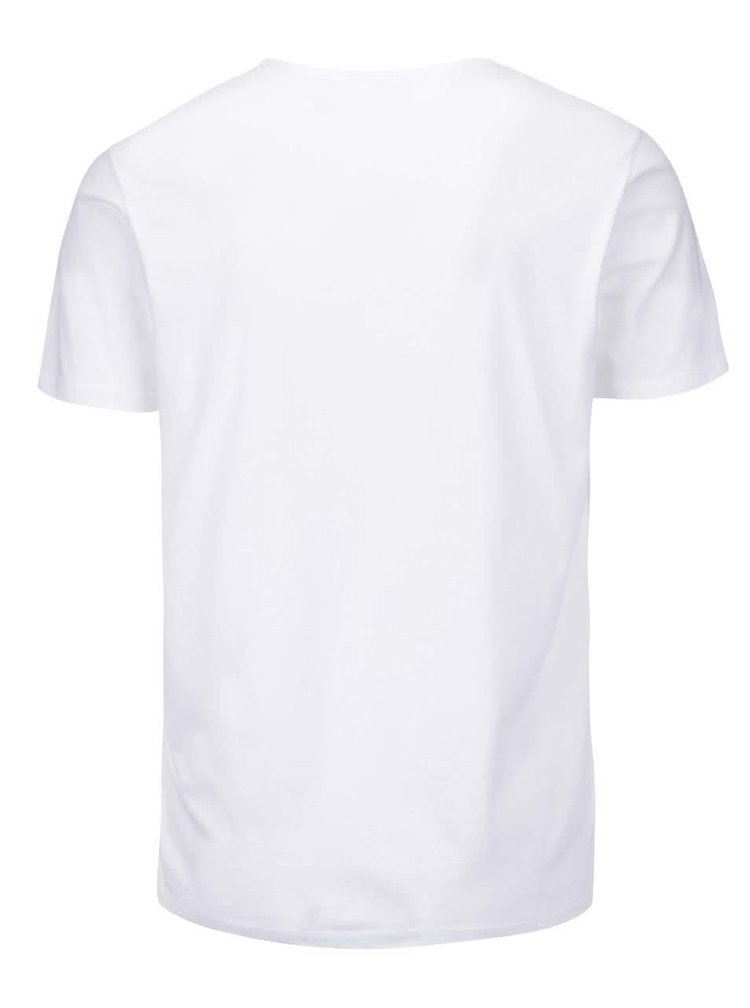 Tricou alb Pepe Jeans Richond din bumbac