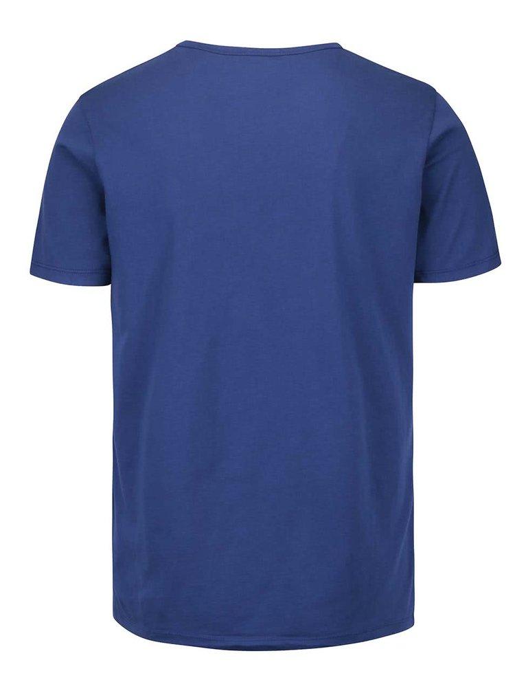 Modré pánské triko s potiskem Pepe Jeans Richond
