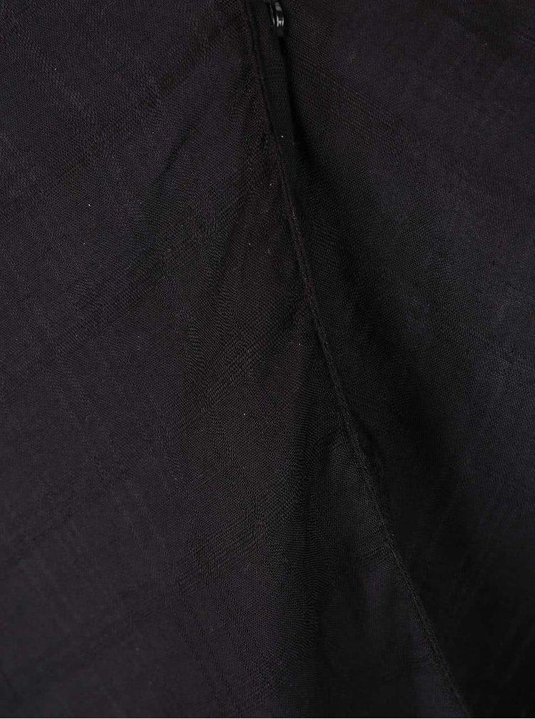 Černá halenka s překládaným výstřihem VILA Ramina